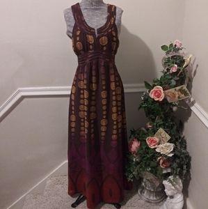 ❤Like New DKNY Jeans Brown Tribal Print Maxi Dress